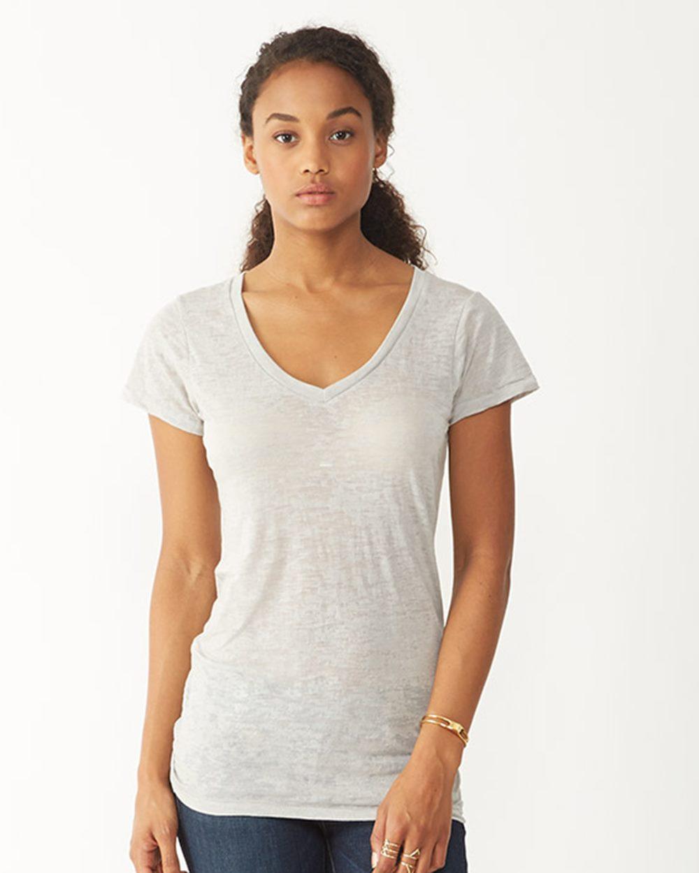 09deaedf5331 Alternative 2662 - Women s Diane Burnout V-Neck T-Shirt - Friendly ...