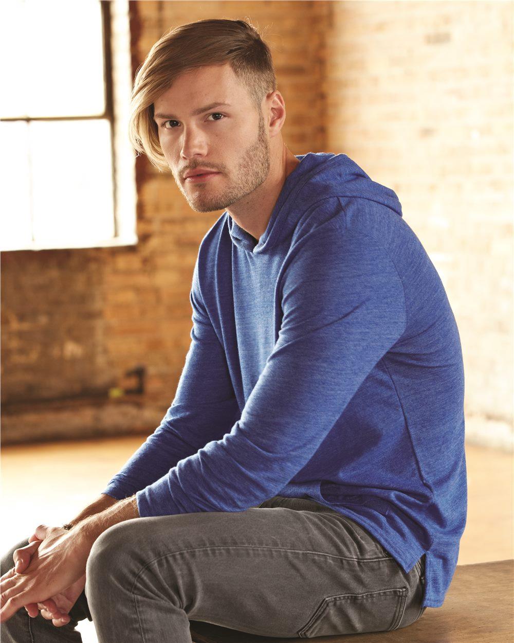 Alternative 12365 eco jersey marathon hooded pullover t for Marathon t shirt printing