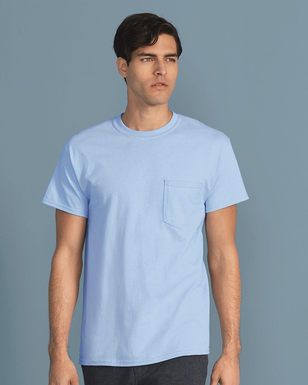 Gildan 2300 ultra cotton t shirt with a pocket for Gildan t shirt printing