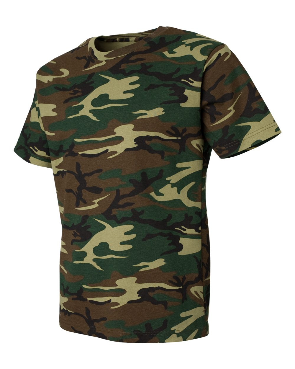 Code five 3906 adult camo tee friendly arctic printing for Camouflage t shirt printing