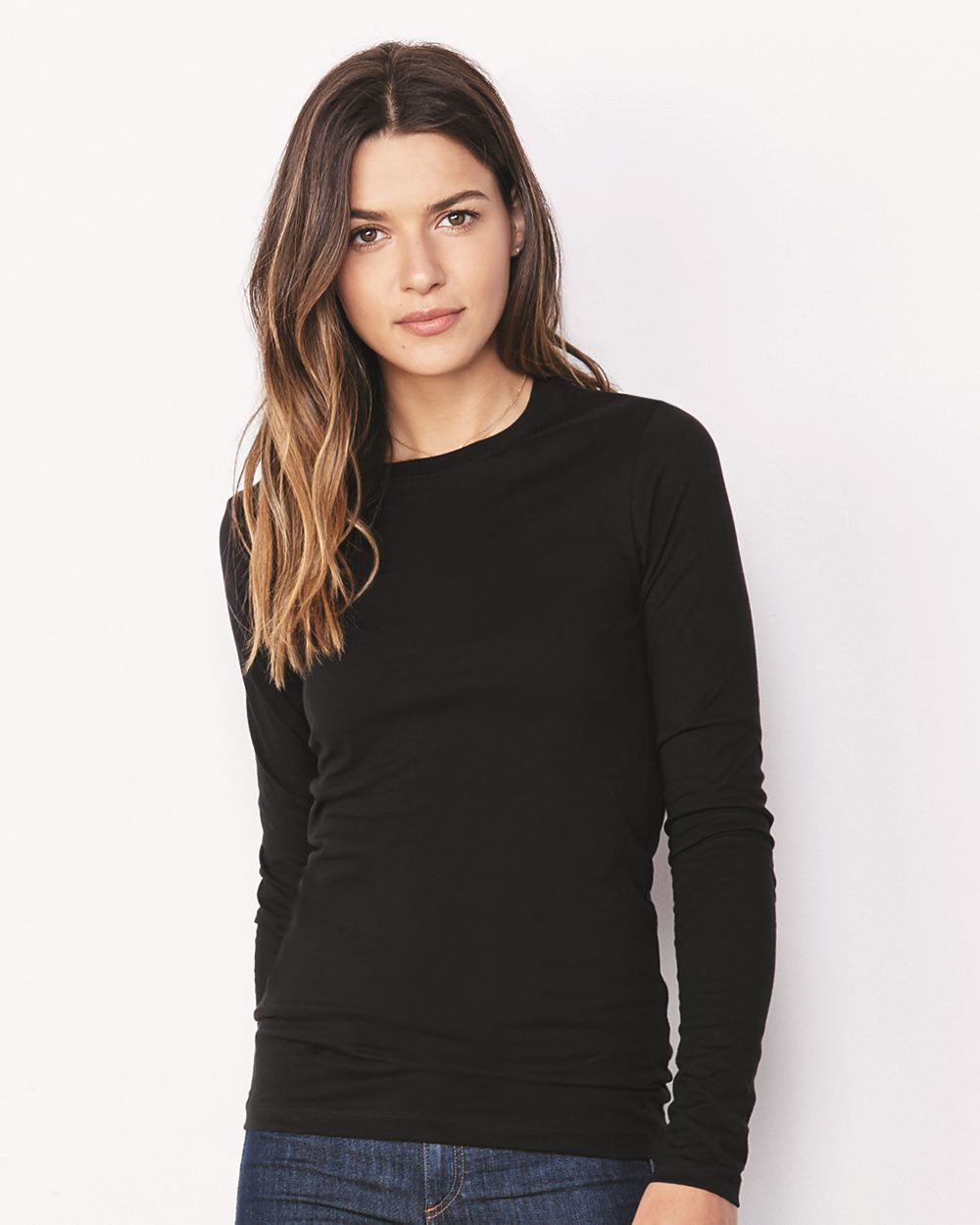 89a7510f Bella + Canvas 6450 - Women's Relaxed Long Sleeve Jersey Tee
