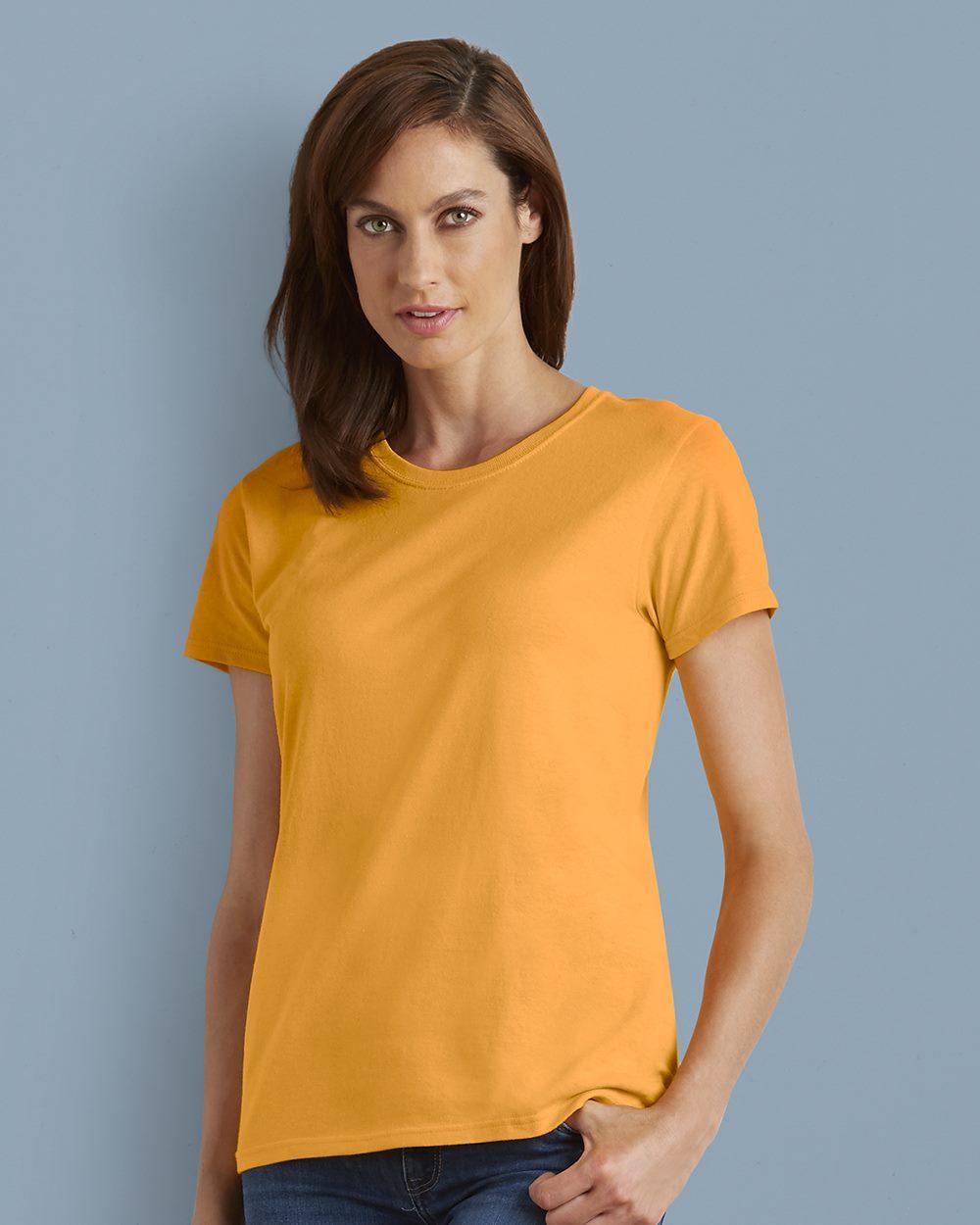 Gildan 5000l Heavy Cotton Women S Short Sleeve T Shirt Friendly