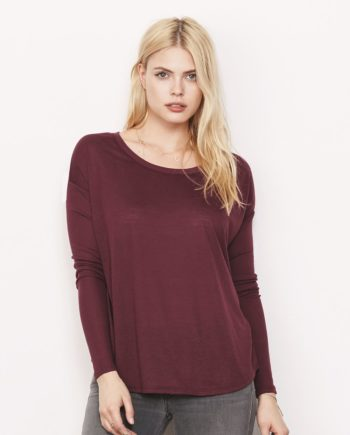 80c5e12f8 Bella + Canvas 8852 – Women's Flowy Long Sleeve Tee with 2×1 Sleeves