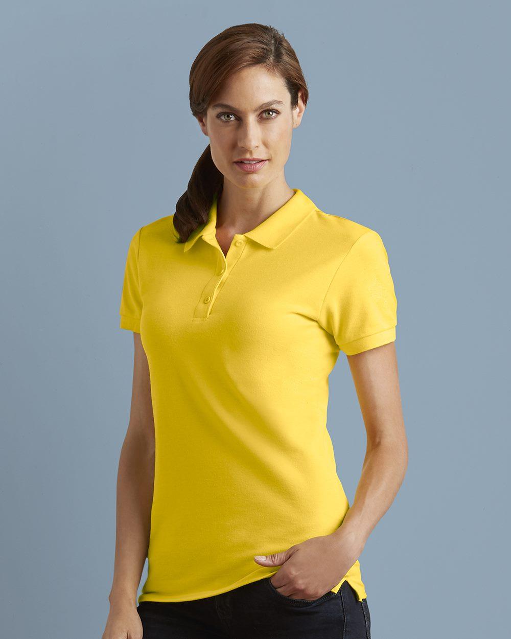 e4cc0b94 Gildan 82800L - Premium Cotton Women's Double Pique Sport Shirt ...