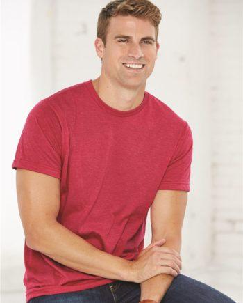 927bac9a327 Bayside 5010 – USA Made Ringspun 50 50 Heather Unisex T-Shirt