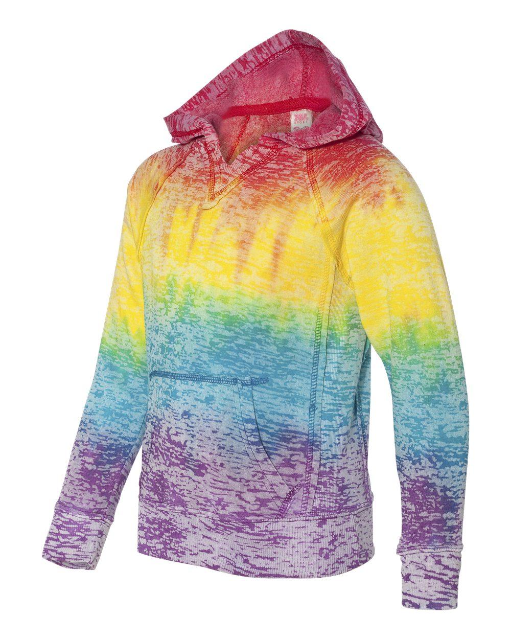 MV Sport Girls Courtney V Notch With Front Pouch Pocket Sweatshirt