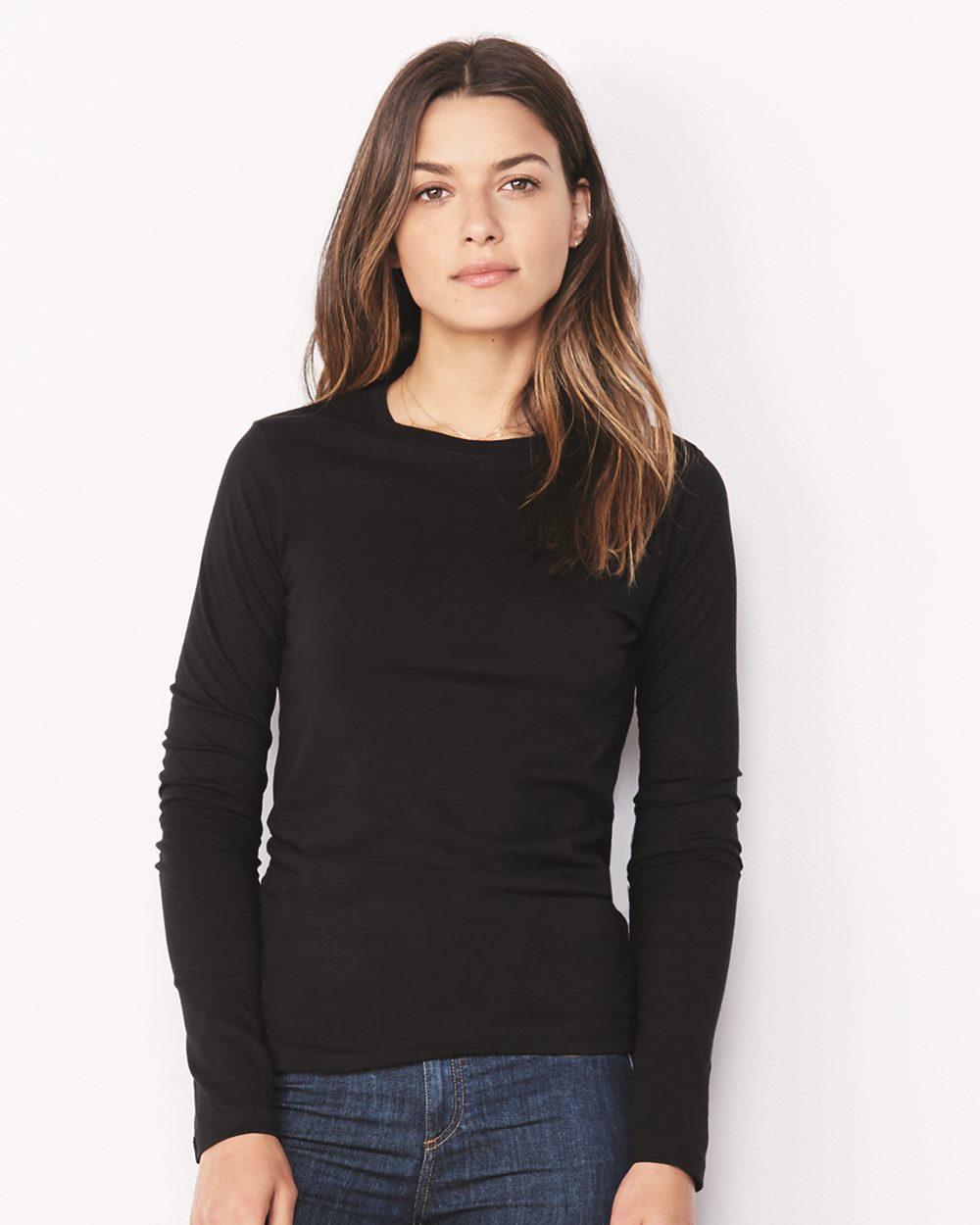 443538155156 Bella + Canvas 6500 - Women's Long Sleeve Jersey Tee - Friendly ...
