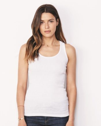 f51dfecb1bdea6 Bella + Canvas 4070 – Women s 2×1 Rib Racerback Longer Length Tank