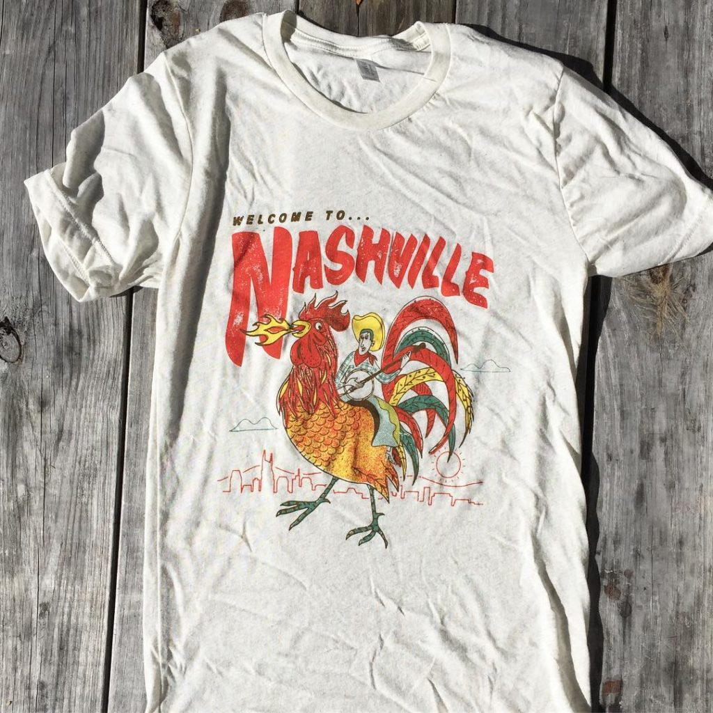 Nashville cowboy chicken shirt